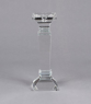 """Picture of Crystal Candle Holder Square Stem 12""""H #20274"""