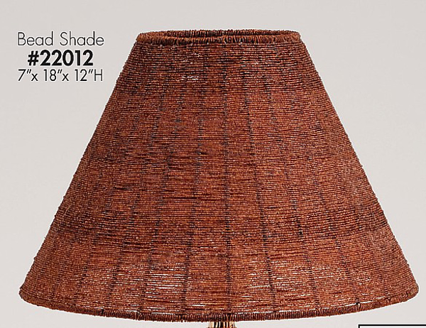 "Picture of Bead Lamp Shade Brown  7""x18""x12""H  #22012"