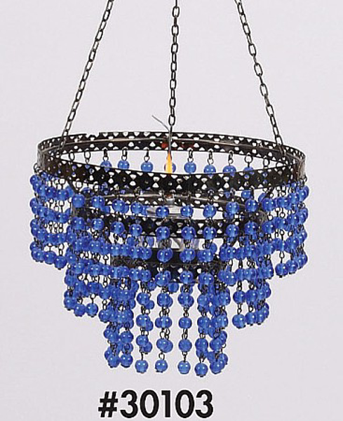 """Picture of Bead Hanger 3-Tier Blue 7""""Dx16""""H #30103"""