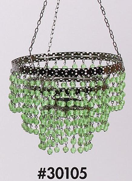 "Picture of Bead Hanger 3-Tier Green 7""Dx16""H #30105"