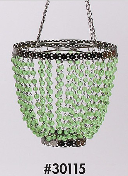 """Picture of Bead Hanger Cone Green 7""""Dx18""""H #30115"""