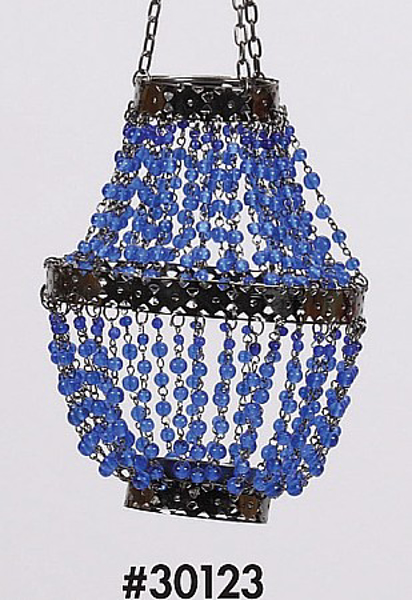 """Picture of Bead Hanger Mini-Bead Blue 4.5""""Dx14""""H #30123"""