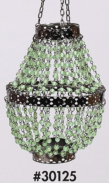 """Picture of Bead Hanger Mini-Bead Green 4.5""""Dx14""""H #30125"""