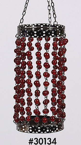 "Picture of Bead Hanger Cylindrical Red 3""Dx14""H #30134"