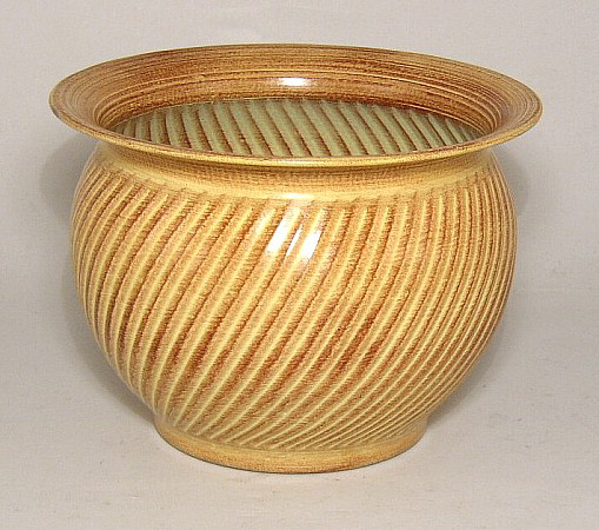 """Picture of Earth Tone Planter Swirl Pattern Tree 