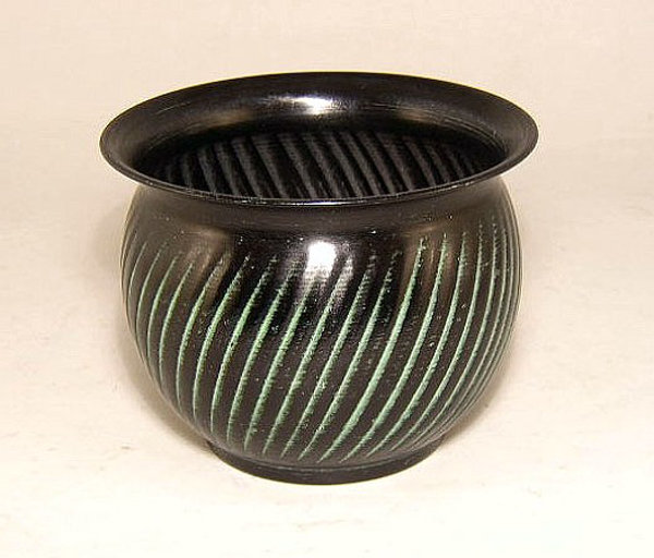 "Picture of Dark Green Planter Swirl Pattern Tree | 6.50"" x 4.50""H 