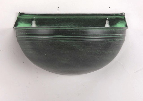 "Picture of Dark Green Planter Half Dome Wall | 5.50"" x 10.00"" x 5.50"" H 