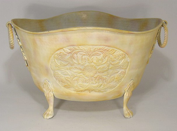 "Picture of Planter Oval Ring Hndles Embossed Ivory Finish 17""x21""x13""""H  #60265"