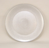"""Picture of Charger Plate Glass Round Silver Honey Comb  Set/4  