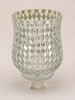 """Picture of Peg Votive Candle Holder Mirror Mosaic Silver Set of 2  