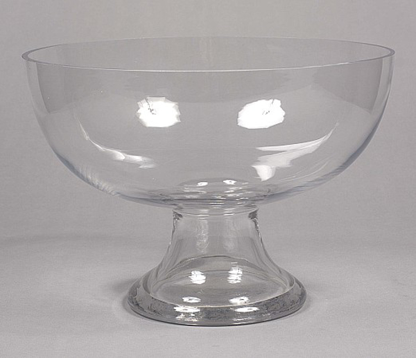 """Picture of Clear Glass Bowl on  Pedestal  