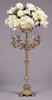 """Picture of Brass Candelabra 4-Light + Bowl  Embossed Triangle Base 