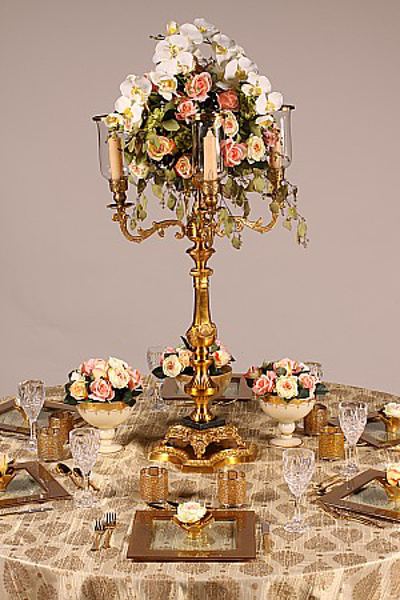 Picture of Tablescape with Antique Gold Candelabra #37591