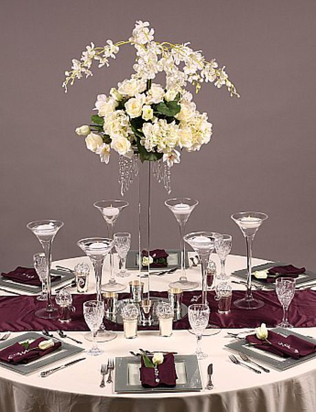 Picture of Tablescape with Crystal Floral Stand #20241