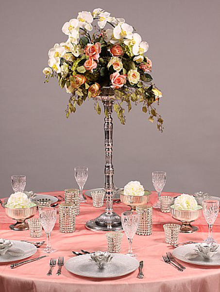 Picture of Tablescape with Aluminum Floral Stand #51326