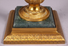 "Picture of Antique Gold Candelabra 4-Light+Bowl Green Marble Pole and Base  | 23""Wx31""H 
