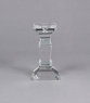 "Picture of Crystal Candle Holder Square Stem 8""H #20276"