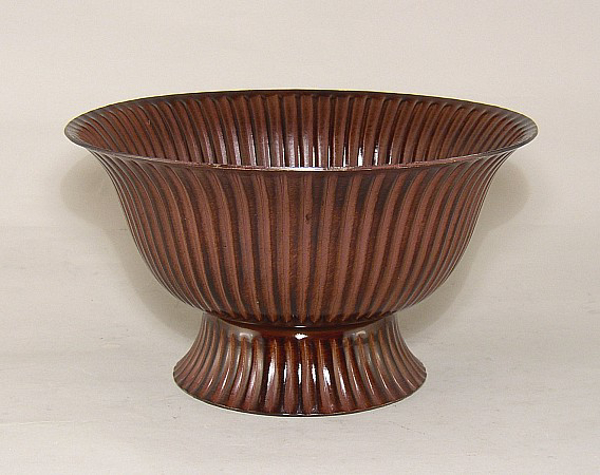 """Picture of Bronze Finish on Aluminum Revere Bowl Fluted  