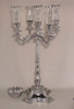 """Picture of Aluminum Candelabra 5-Light + Bowl and Clear Glass Shades 