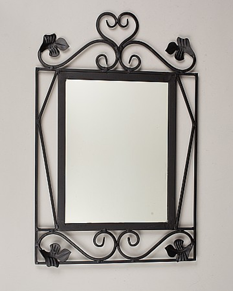 """Picture of Black Wrought Iron Framed Mirror 