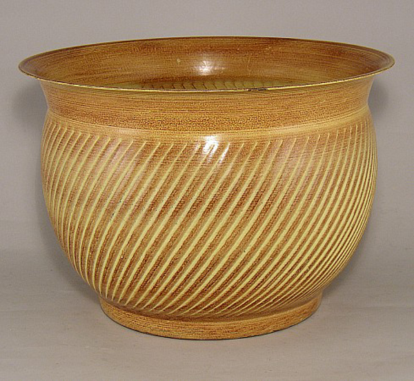 "Picture of Earth Tone Planter Swirl Pattern Tree Large | 14.00"" x 10.00""H 