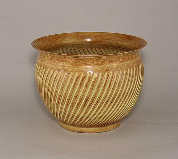 """Picture of Earth Tone Planter Swirl Pattern Tree Small   10.00"""" x 8.00""""H   #53146S   CLOSEOUT!"""