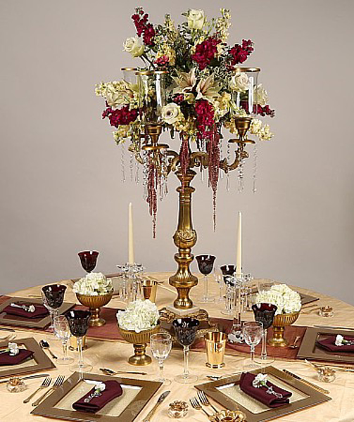 Picture of Tablescape with Antique Gold Candelabra #51661