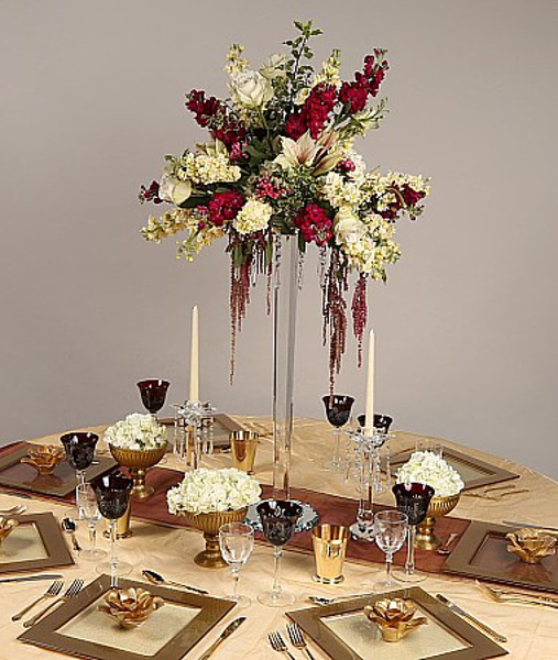 Picture of Tablescape with Crystal Floral Stand #20246