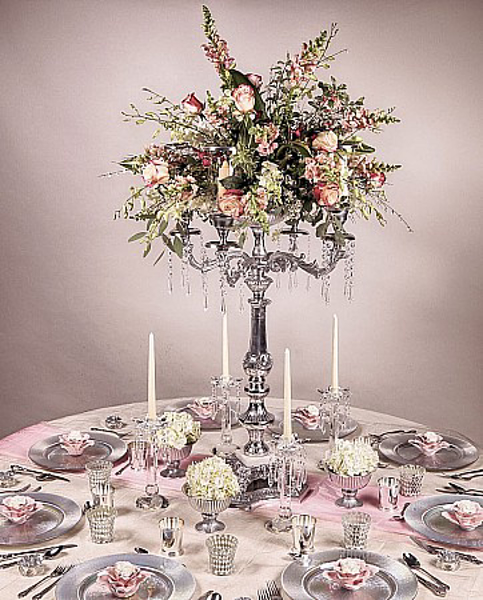 Picture of Tablescape with Aluminum Candelabra #51561