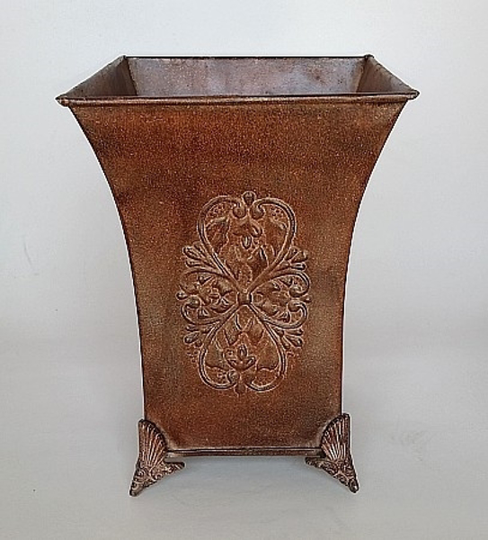 """Picture of Brown Vase Square Embossed  