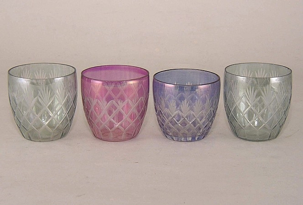 Picture of Color Cut Glass Votive set of 4 #KCGV2