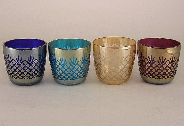 Picture of Color Cut Glass Votive set of 4 #KAGV3