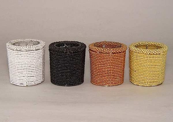 Picture of Assorted color Bead Votive set of 4 #KBV1