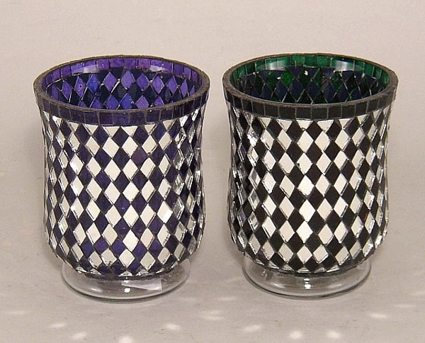 Picture of Color Mosaic Glass Votive set of 2 #KMV20