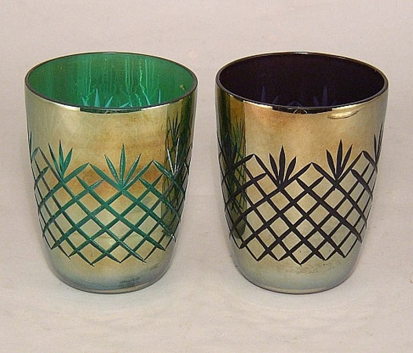 Picture of Color Cut Glass Votive set of 2 #KAGV1