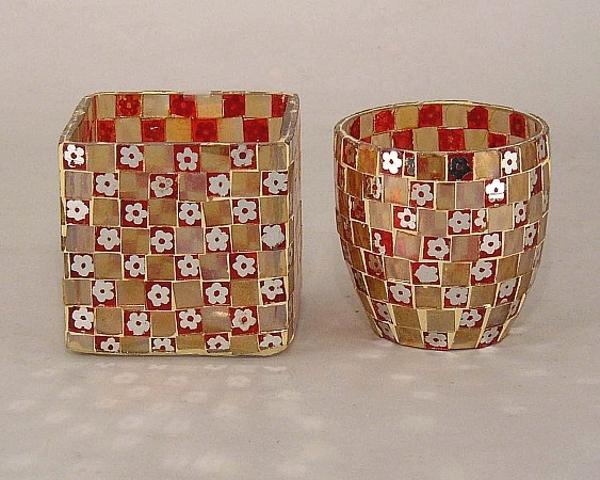 Picture of Mosaic Glass Votive set of 2 #KMV17