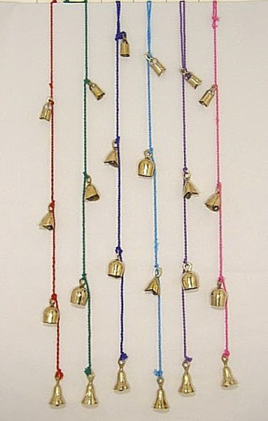 """Picture of Multi Color Bell Strings with 4 Bells per String  Set/6 
