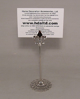 "Picture of Nickel Plated on Brass Card Holder Fleur-de-lis on Round Filigree Base  Set/4  | 3.5""Dx3.25""H |  Item No. 79616"