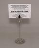 "Picture of Nickel Plated on Brass Card Holder Fleur-de-lis on Round Filigree Base Set/4    3.5""Dx6""H    Item No. 79605"