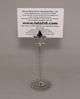 "Picture of Nickel Plated on Brass Card Holder Fleur-de-lis on Round Filigree Base  Set/4  | 3.5""Dx9""H |  Item No. 79604"