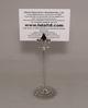 "Picture of Nickel Plated on Brass Card Holder Fleur-de-lis on Round Filigree Base Ste/2 | 4.5""Dx18""H |  Item No. 79602"