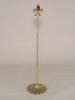 """Picture of Brass Card Holder Fleur-de-lis on Round Filigree Base  Set/2    4.5""""Dx18""""H    Item No. 99602"""