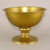 """Picture of Antique Gold Bowl with Pedestal & Smooth Finish 