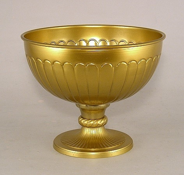 "Picture of Antique Gold Bowl Pedestal  | 8""Dx6.5""H 