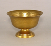"""Picture of Antique Gold Hammered Bowl with Pedestal Set/2 