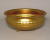 """Picture of Antique Gold Bowl Low with Embossed Feet 