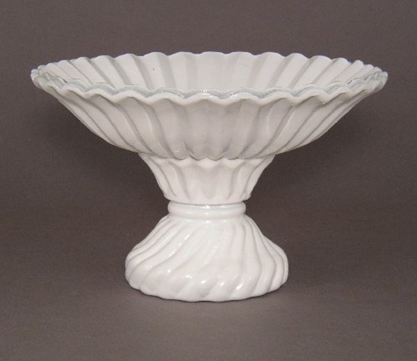 """Picture of Bowl White Painted Glass Flower Arrangement 