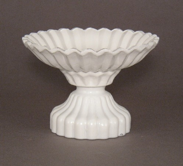"""Picture of Bowl White Painted Glass Flower Arrangement   6""""Dx4.5""""H    Item No. K17008"""