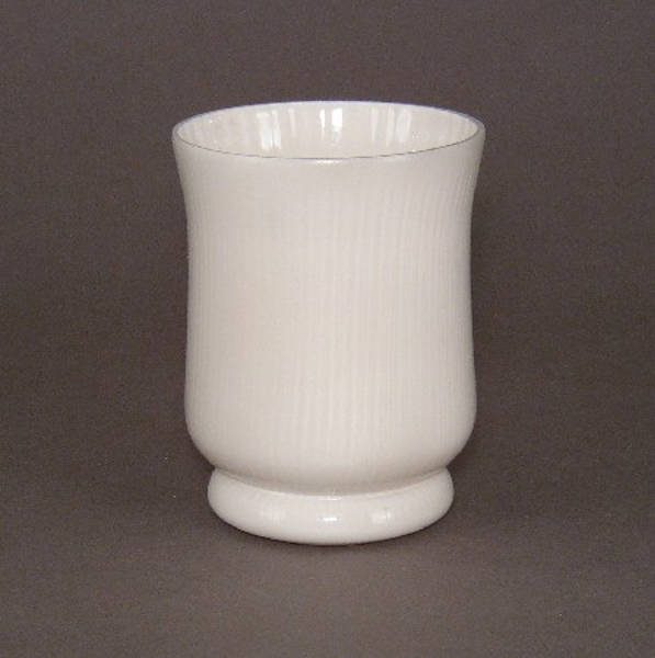 "Picture of Vase Painted White Glass  | 3.5""Dx4.5""H 