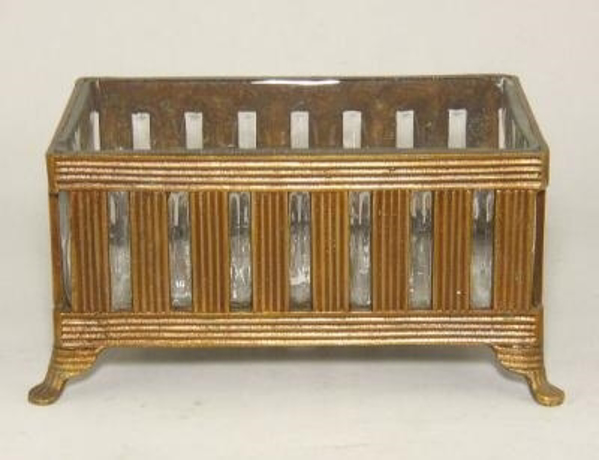 "Picture of Antique Gold Planter #C31113  6.25""x9.25""x5""H"